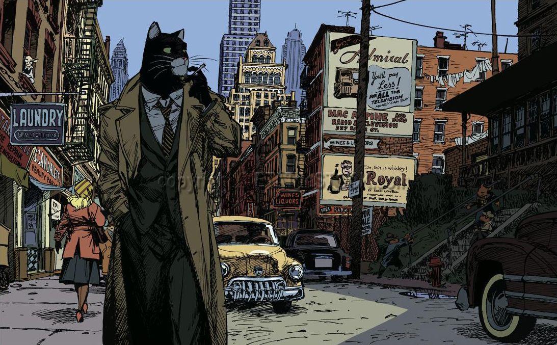 Imagen del cómic Blacksad.