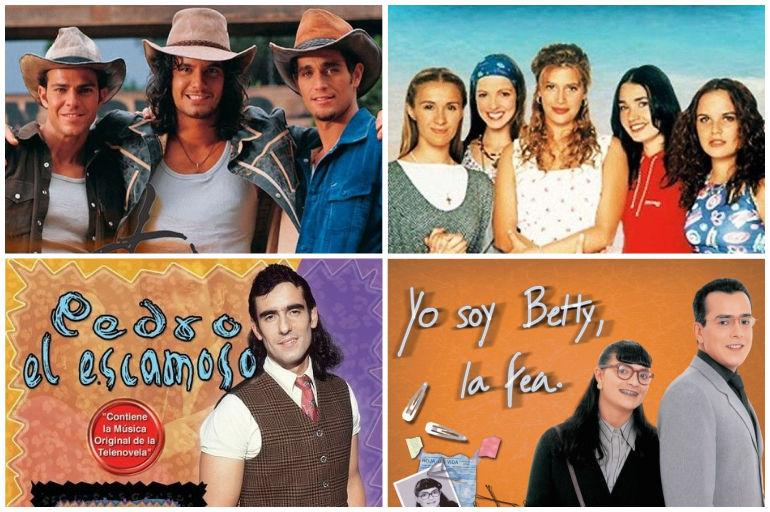 Carteleras de varias telenovelas famosas.