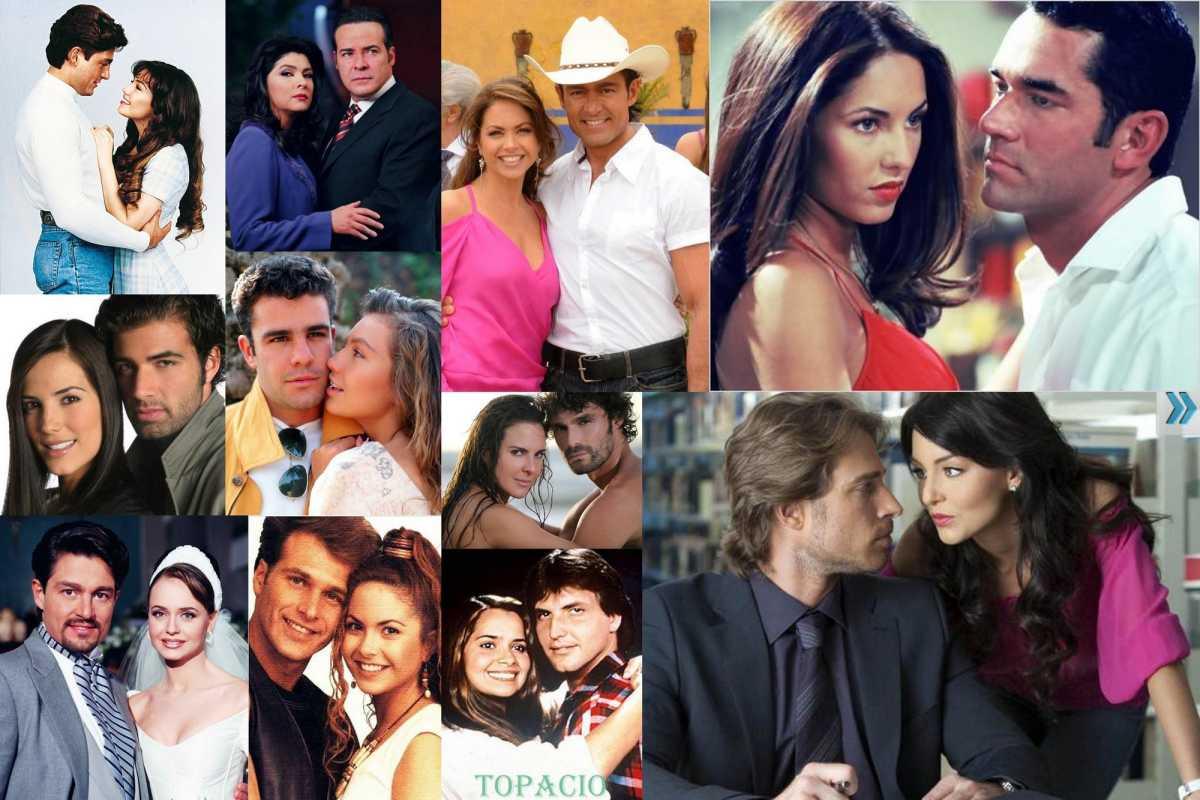 Varias parejas de diferentes telenovelas.