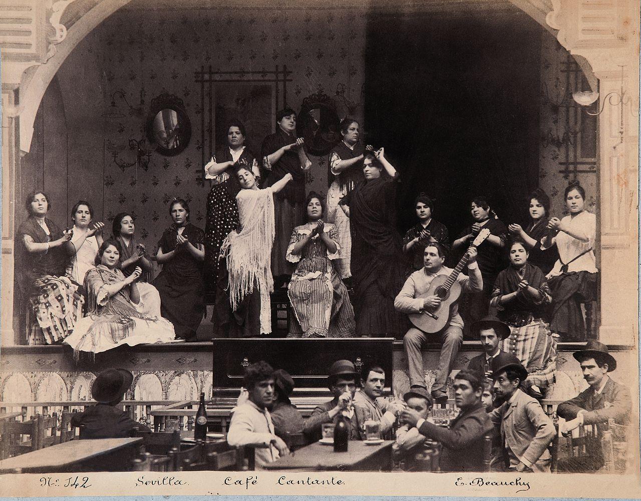 Tablao flamenco en 1888