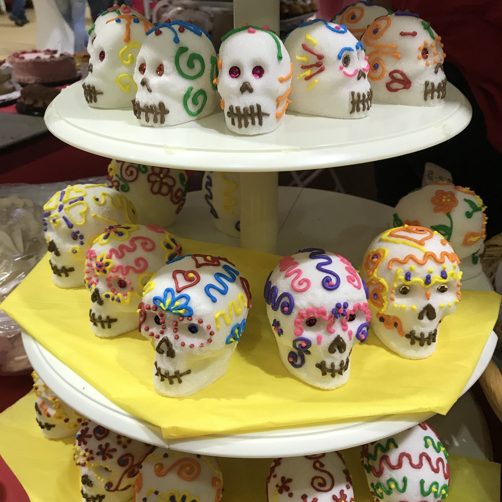 Calaveras de azúcar, típicas de México
