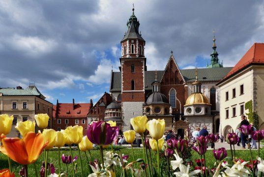 Vista del castillo de Wawel (Cracovia).