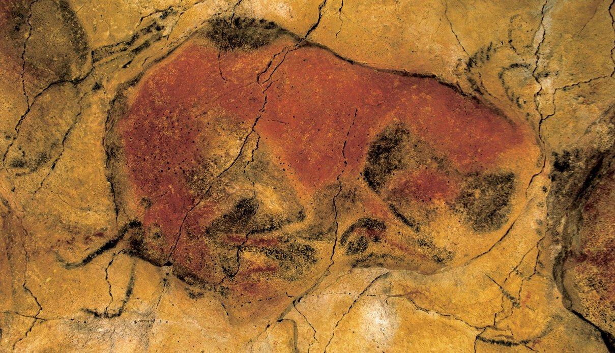 Uno de los bisontes pintados en la Cueva de Altamira
