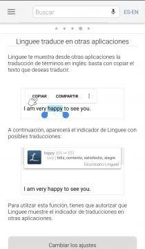 Linguee - Aplicación para ver traducciones en contexto