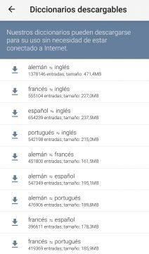Linguee - Diccionarios que puedes descargar.