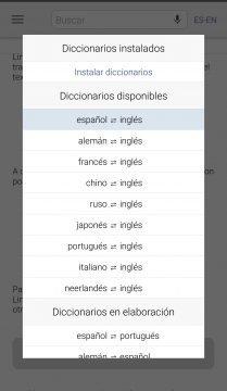 Linguee - Parejas de idiomas que permiten traducción.