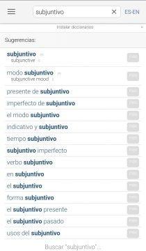 Linguee - La aplicación permite elegir diferentes idiomas para traducir.